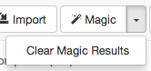 A_screenshot_of_the_Magic_option_expanded_to_show_the_Clear_Magic_Results_option.png