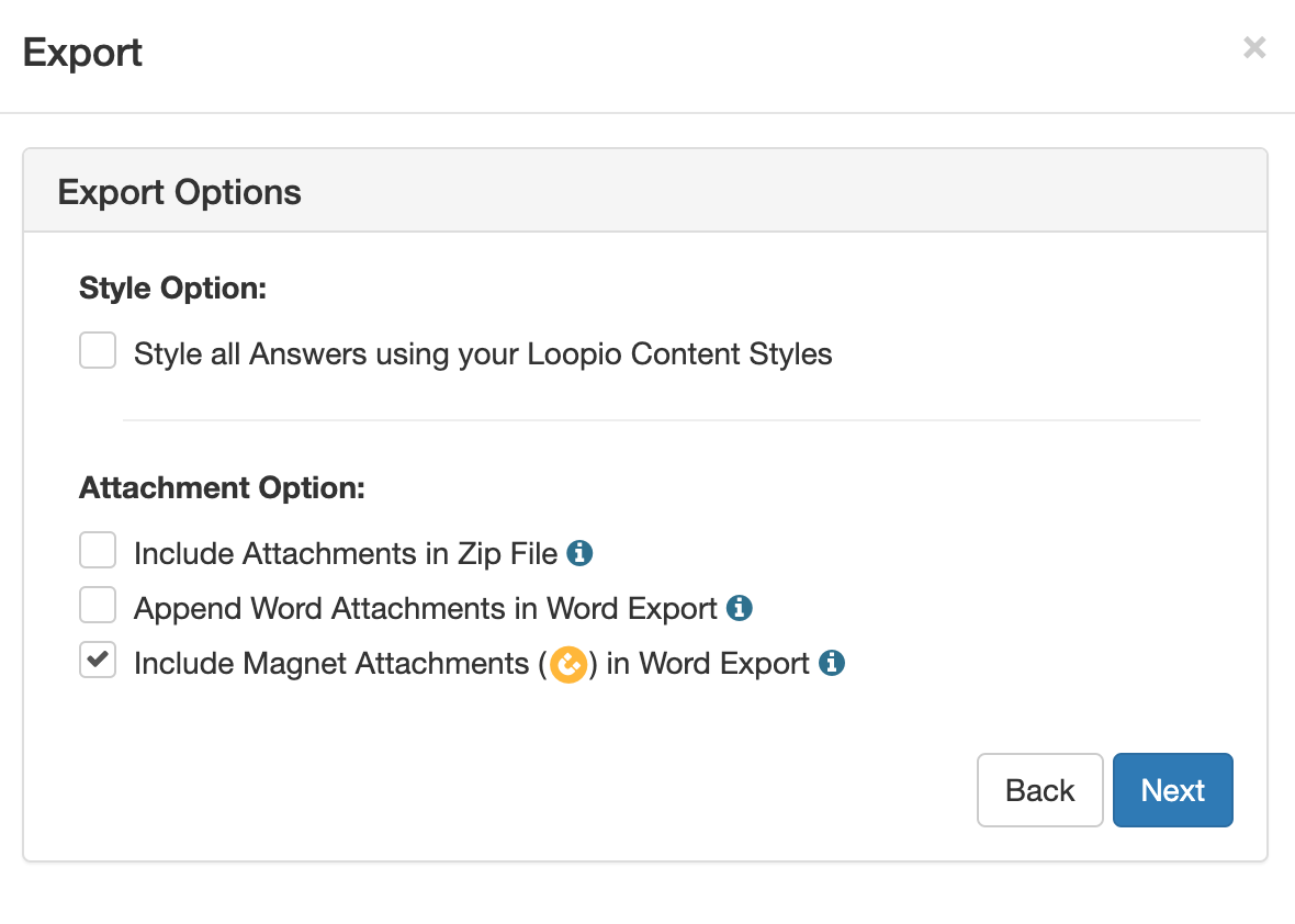 A_screenshot_of_the_Export_Options_choices_for_style_and_attachment_export_in_a_Word_based_Project.png