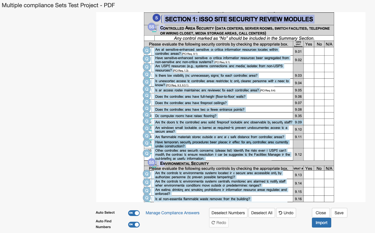 A_screenshot_of_the_Project_Import_modal_for_a_PDF_document__with_Sections__Subsections__and_Questions_selected.png