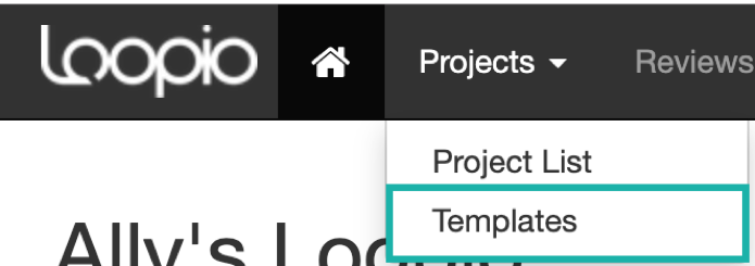 The_Projects_drop_down_menu_with_Templates_indicated.png